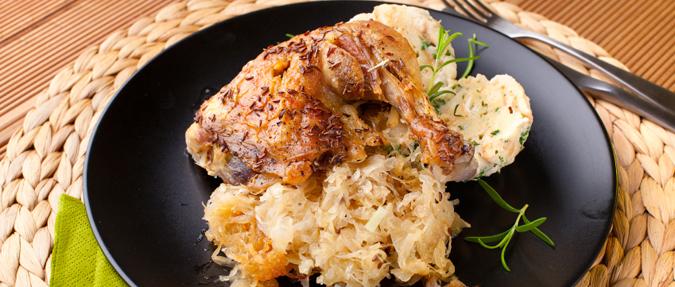 Czeskie potrawy - udko z kurczaka